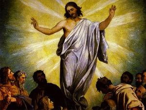 Jesus living the moment in Resurrection grace!